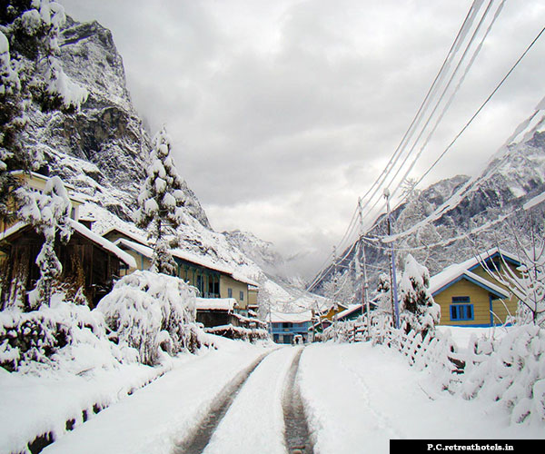 Lachung North Sikkim in winter