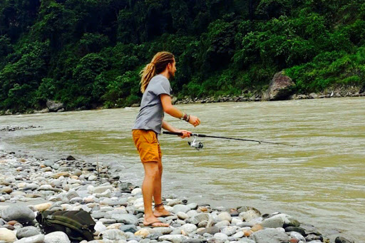 Fishing at teesta RIver
