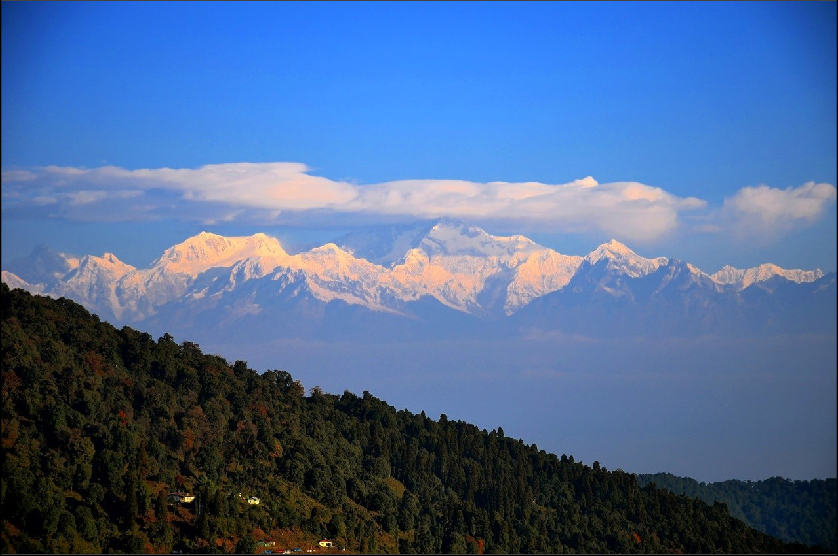 View of Kangchenjunga from Chatakpur Village
